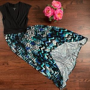 Apt 9 hi-lo watercolor maxi dress, size XS